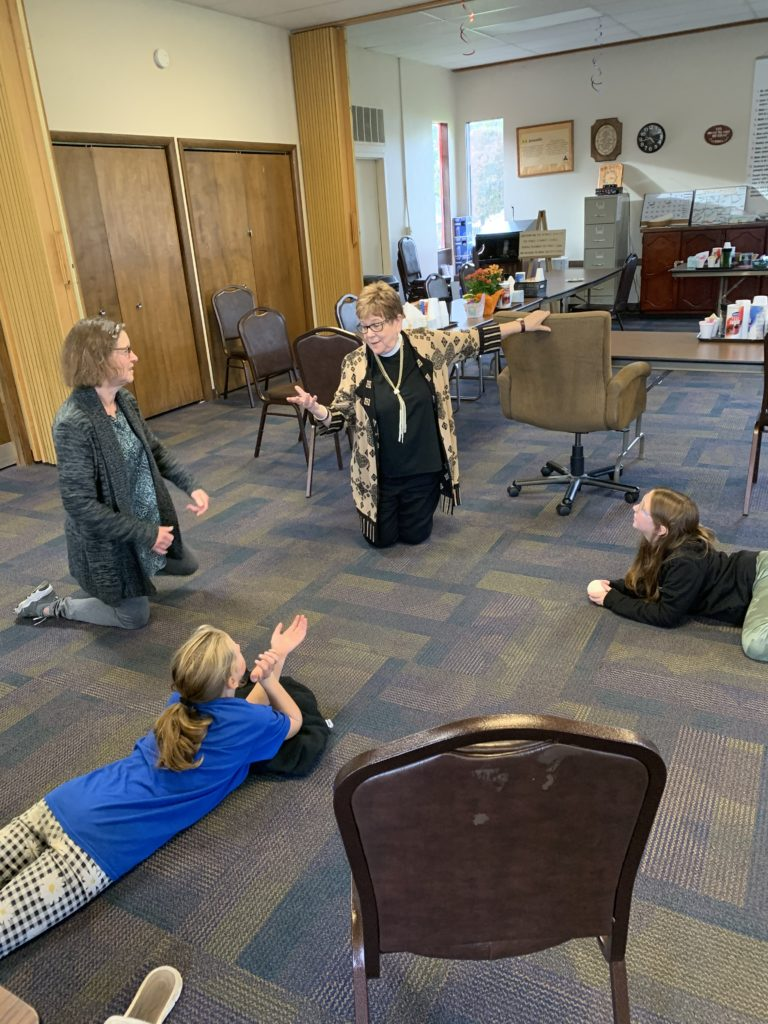 Kids relax and learn at Youth Group at St Albans Episcopal Church Davenport, Iowa